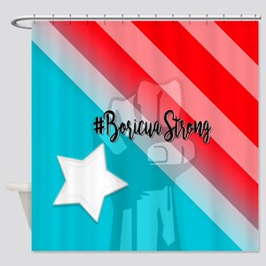Boricua Strong Shower Curtain