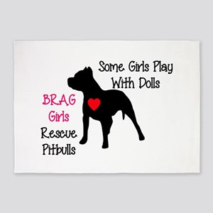 brag-girls 5'x7'Area Rug