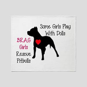 brag-girls Throw Blanket