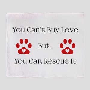 You Can't Buy Love Throw Blanket