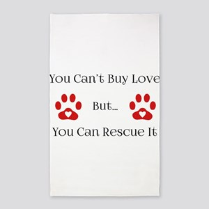 You Can't Buy Love 3'x5' Area Rug