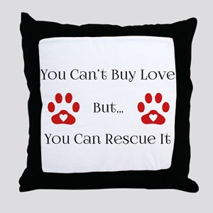 You Can't Buy Love Throw Pillow