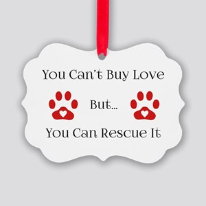 You Can't Buy Love Picture Ornament