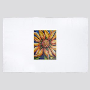 sunflower, cheerful art, 4' x 6' Rug