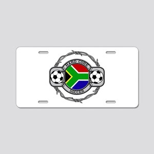 South Africa Soccer Aluminum License Plate
