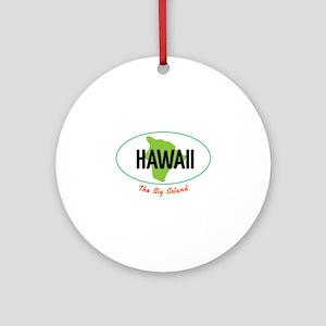 HAWAII The Big Islnad Ornament (Round)