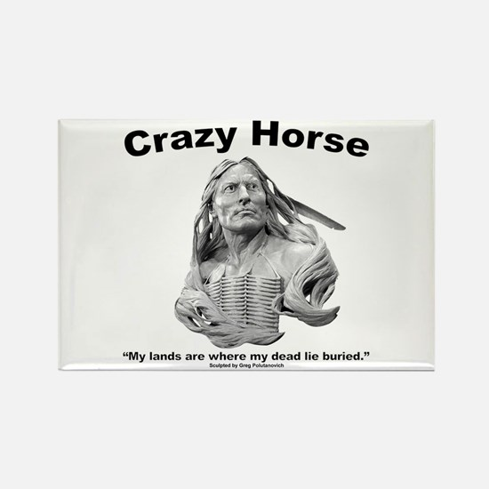 Crazy Horse: My Lands Rectangle Magnet