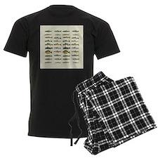 Freshwater Fish Chart Men's Dark Pajamas