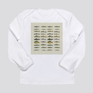 Freshwater Fish Chart Long Sleeve Infant T-Shirt