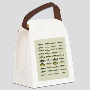 Freshwater Fish Chart Canvas Lunch Bag
