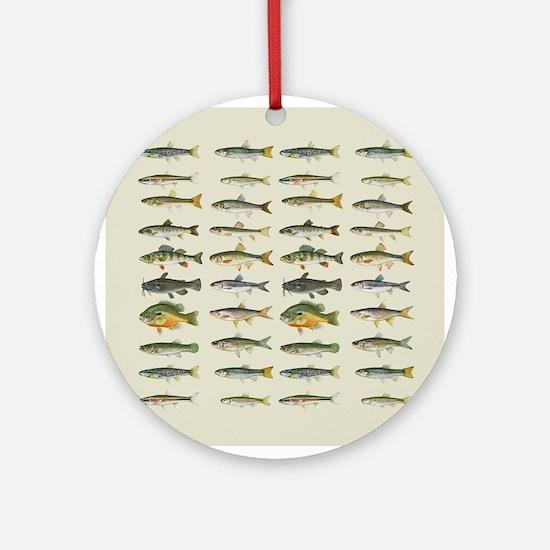 Freshwater Fish Chart Ornament (Round)