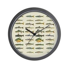 Freshwater Fish Chart Wall Clock