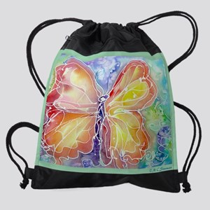 Butterfly, colorful art! Drawstring Bag