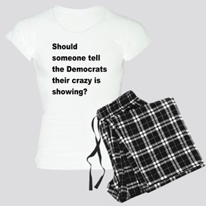 Democrat Crazy Showing Women's Light Pajamas