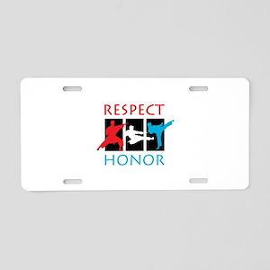 Respect Honor Aluminum License Plate