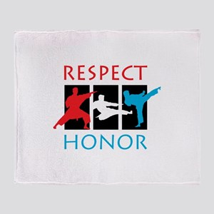 Respect Honor Throw Blanket