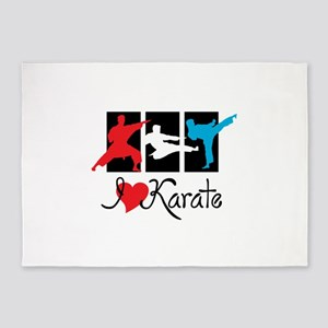 I Love Karate 5'x7'Area Rug