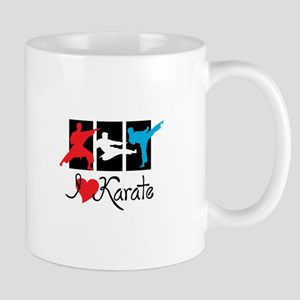 I Love Karate Mugs