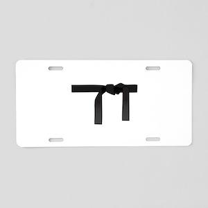 BLACK BELT Aluminum License Plate