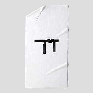 BLACK BELT Beach Towel