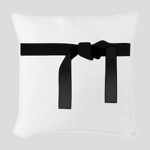 BLACK BELT Woven Throw Pillow