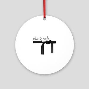Black Belt Ornament (Round)