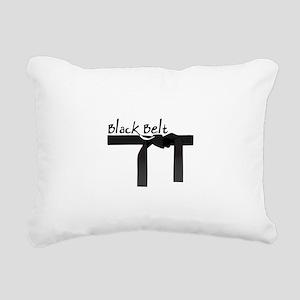 Black Belt Rectangular Canvas Pillow