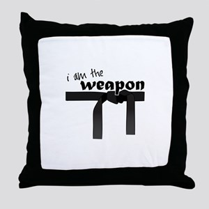 I Am The Weapon Throw Pillow