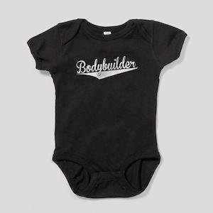 Bodybuilder, Retro, Baby Bodysuit