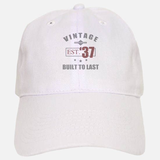Vintage 1937 Birth Year Baseball Baseball Cap