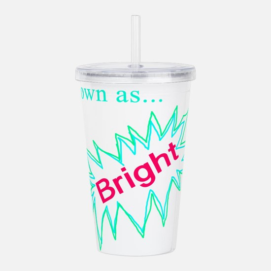 Known as Bright Acrylic Double-wall Tumbler