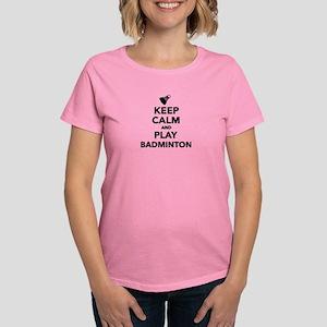 Keep calm and play Badminton Women's Dark T-Shirt