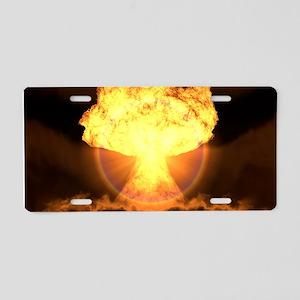Drop the bomb Aluminum License Plate