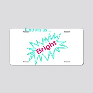 Known as Bright Aluminum License Plate
