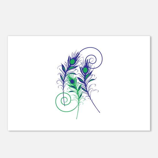 Peacock Feathers Postcards (Package of 8)