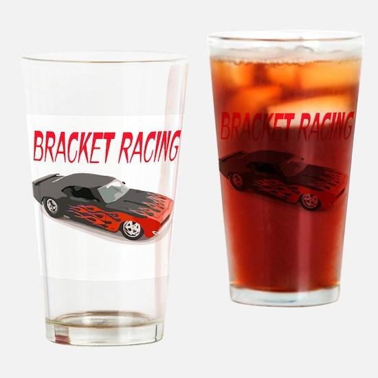 Bracket Racing Camaro Drinking Glass