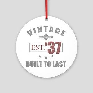 Vintage 1937 Birth Year Round Ornament