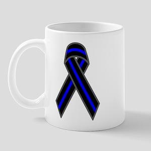 Blue Line Ribbon Mug