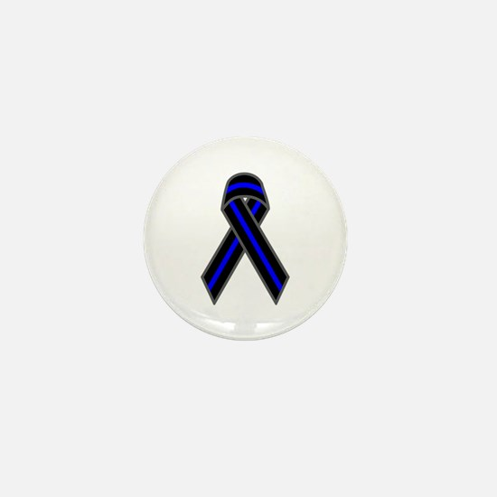 Blue Line Ribbon Mini Button