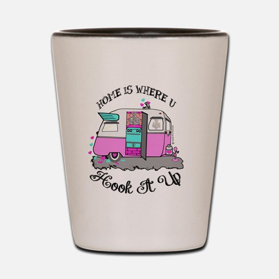 vintage pink shasta Shot Glass