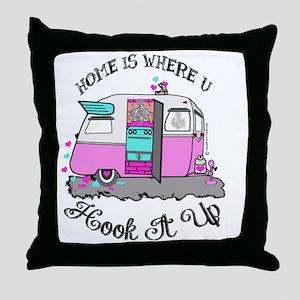 vintage pink shasta Throw Pillow
