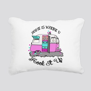 vintage pink shasta Rectangular Canvas Pillow