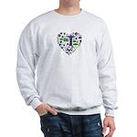 Brazil (Brasil) World Cup Heart Sweatshirt