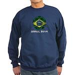 Brazil (Brasil) World Cup 2014 Sweatshirt (dark)