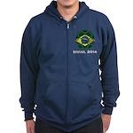 Brazil (Brasil) World Cup 2014 Zip Hoodie (dark)