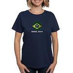 Brazil (Brasil) World Cup 201 Women's Dark T-Shirt