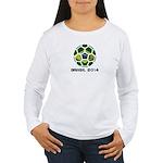 Brazil (Brasil) World Women's Long Sleeve T-Shirt