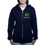 Brazil (Brasil) World Cup 2014 Women's Zip Hoodie