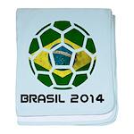 Brazil (Brasil) World Cup 2014 baby blanket