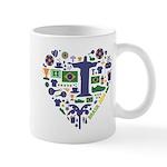 Brazil (Brasil) World Cup Heart Mug